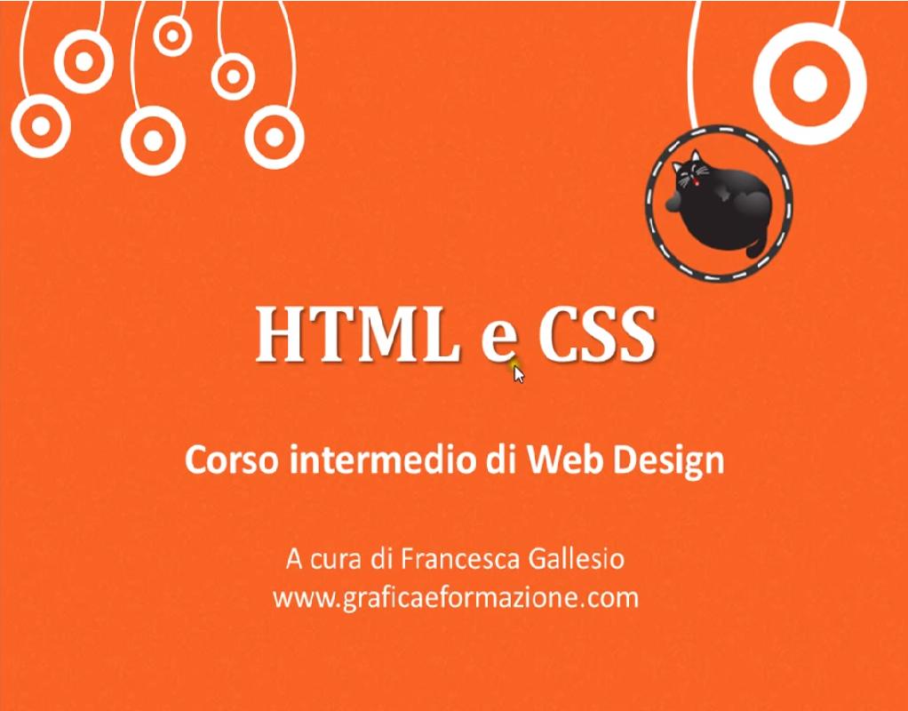 Video Corso intermedio HTML CSS completo