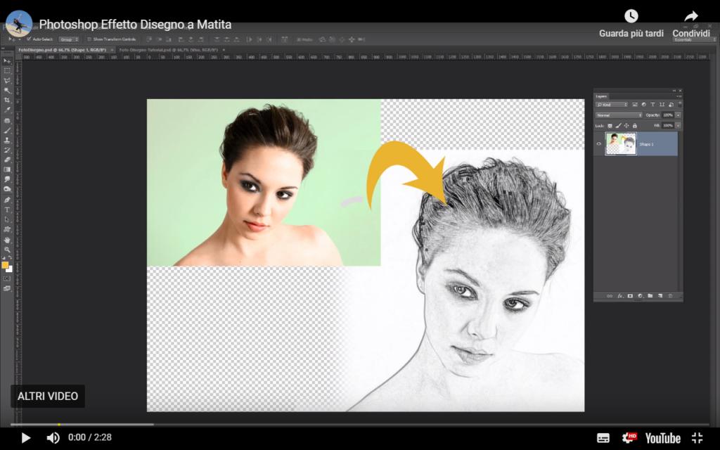 Tutorial Photoshop Disegno a Matita