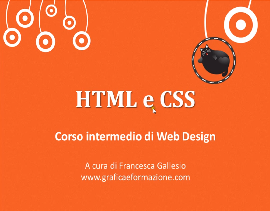 Video Corso intermedio HTML CSS completo