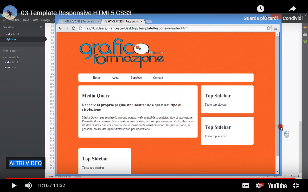 Tutorial Template Responsive HTML5 CSS3