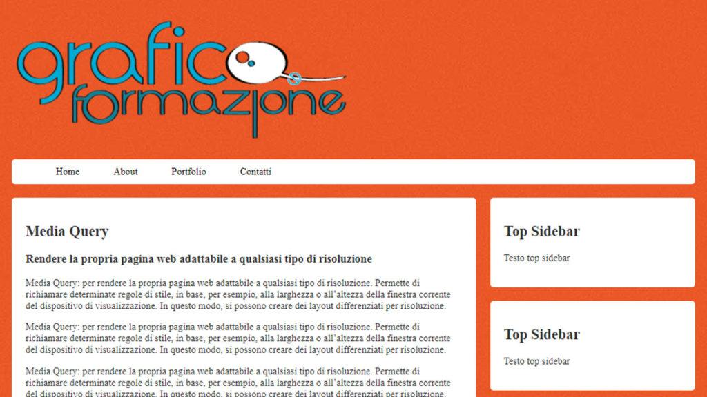 template responsive css3 html5 grafica e formazione