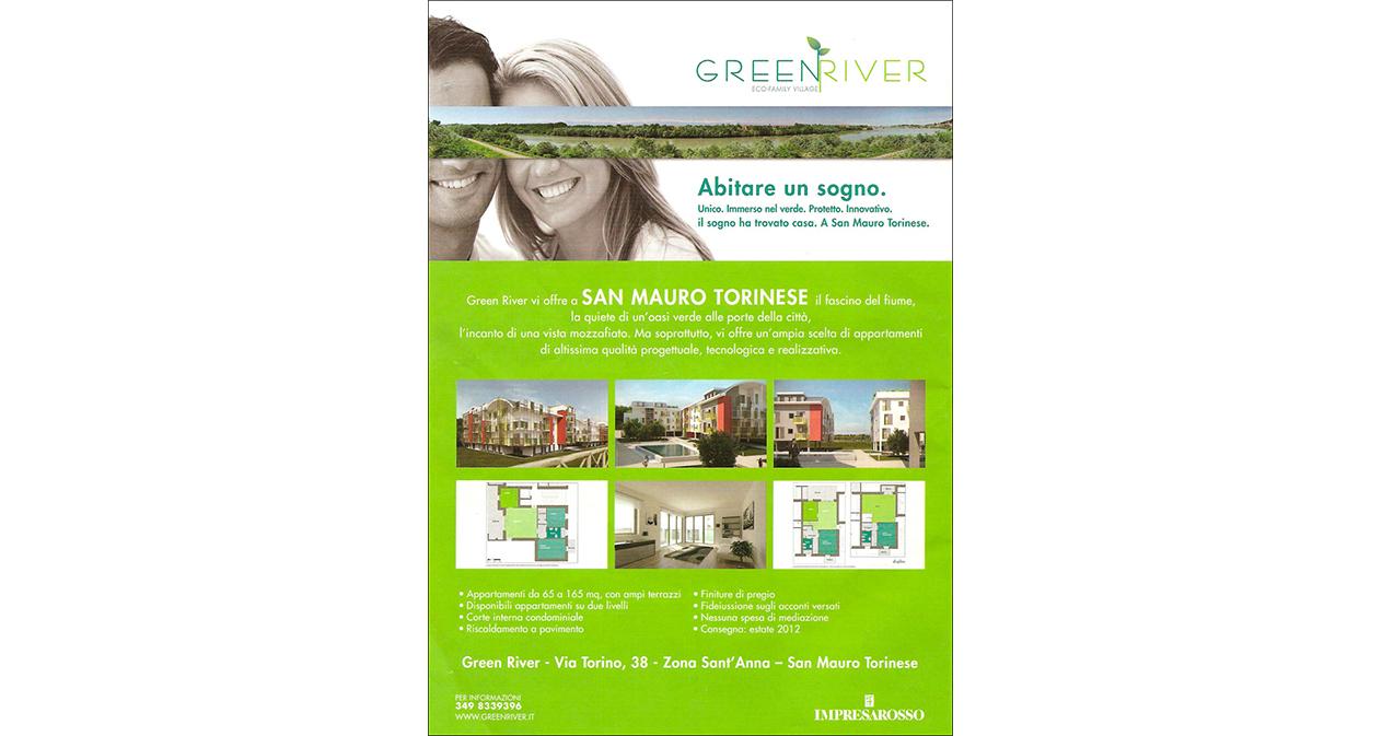 Pubblicità Complesso Residenziale Green River - Rivista